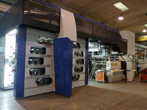 Installation KBA Flexo machinery in Pavia